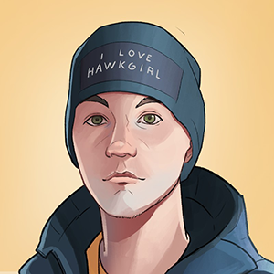An illustrated self-portrait of Martin Sedlak, the Art Prompts illustrator.
